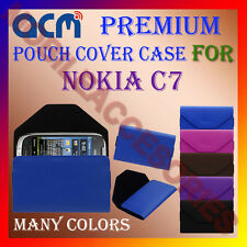 ACM-PREMIUM POUCH LEATHER CARRY CASE for NOKIA C7 MOBILE COVER HOLDER PROTECTION