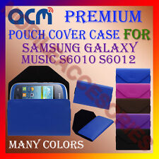 ACM-PREMIUM POUCH LEATHER CARRY CASE for SAMSUNG GALAXY MUSIC S6010 S6012 COVER
