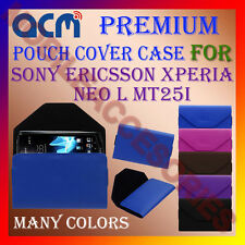 ACM-PREMIUM POUCH LEATHER CARRY CASE for SONY ERICSSON XPERIA NEO L MT25I COVER