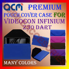 ACM-PREMIUM POUCH LEATHER CARRY CASE for VIDEOCON INFINIUM Z30 DART MOBILE COVER