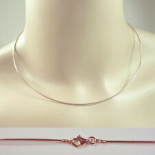 Halsreif, Omegareif, Collier, Silber 925, ROTGOLD,  1,0 mm, Länge ab 38 cm