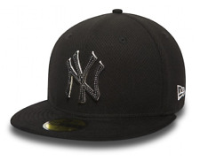 NEW ERA 59FIFTY FITTED CAP. DIAMOND SUEDE NEW YORK YANKEES. NAVY/BLACK