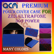 ACM-PREMIUM POUCH LEATHER CARRY CASE for ZEN ULTRAFONE 303 POWER MOBILE COVER
