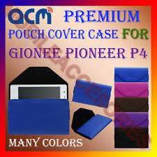 ACM-PREMIUM POUCH LEATHER CARRY CASE for GIONEE PIONEER P4 MOBILE COVER HOLDER