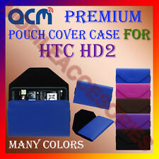 ACM-PREMIUM POUCH LEATHER CARRY CASE for HTC HD2 MOBILE COVER HOLDER PROTECTION
