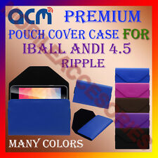 ACM-PREMIUM POUCH LEATHER CARRY CASE for IBALL ANDI 4.5 RIPPLE MOBILE COVER NEW