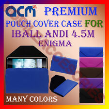 ACM-PREMIUM POUCH LEATHER CARRY CASE for IBALL ANDI 4.5M ENIGMA MOBILE COVER NEW