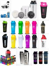 SHAKER BOTTLE PROTEIN MIXER BLENDER CUP USN, BSN, SmartShake, Cyclone Cup