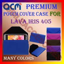 ACM-PREMIUM POUCH LEATHER CARRY CASE for LAVA IRIS 405 MOBILE COVER HOLDER NEW