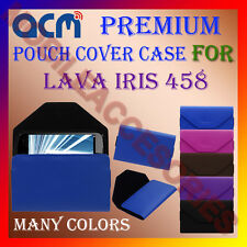 ACM-PREMIUM POUCH LEATHER CARRY CASE for LAVA IRIS 458 MOBILE COVER HOLDER NEW