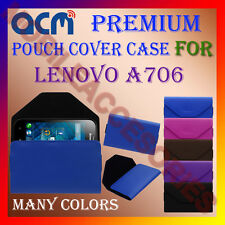ACM-PREMIUM POUCH LEATHER CARRY CASE for LENOVO A706 MOBILE COVER HOLDER LATEST