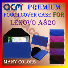 ACM-PREMIUM POUCH LEATHER CARRY CASE for LENOVO A820 MOBILE COVER HOLDER LATEST