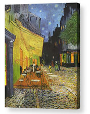 VINCENT VAN GOGH CAFE TERRACE AT NIGHT CANVAS BOX PRINT A4, A3, A2, A1