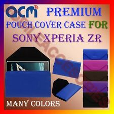 ACM-PREMIUM POUCH LEATHER CARRY CASE for SONY XPERIA ZR MOBILE COVER HOLDER
