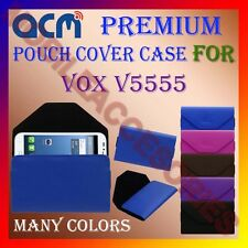 ACM-PREMIUM POUCH LEATHER CARRY CASE for VOX V5555 MOBILE COVER HOLDER PROTECT
