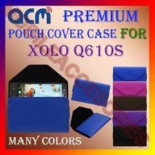 ACM-PREMIUM POUCH LEATHER CARRY CASE for XOLO Q610S MOBILE COVER HOLDER PROTECT
