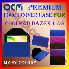ACM-PREMIUM POUCH LEATHER CARRY CASE for COOLPAD DAZEN 1 4G MOBILE COVER HOLDER