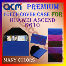 ACM-PREMIUM POUCH LEATHER CARRY CASE for HUAWEI ASCEND G610 MOBILE COVER HOLDER