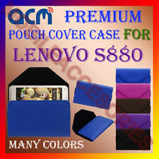 ACM-PREMIUM POUCH LEATHER CARRY CASE for LENOVO S880 MOBILE COVER HOLDER PROTECT