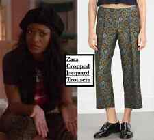 NEW ZARA WOMENS CROPPED JACQUARD TROUSERS AS SEEN ON CELEB SOLD OUT XS S