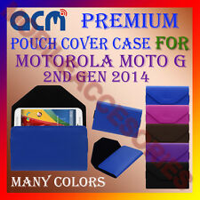 ACM-PREMIUM POUCH LEATHER CARRY CASE for MOTOROLA MOTO G 2ND GEN 2014 COVER NEW