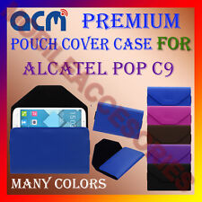 ACM-PREMIUM POUCH LEATHER CARRY CASE for ALCATEL POP C9 MOBILE COVER HOLDER NEW