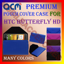 ACM-PREMIUM POUCH LEATHER CARRY CASE for HTC BUTTERFLY HD MOBILE COVER HOLDER