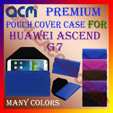 ACM-PREMIUM POUCH LEATHER CARRY CASE for HUAWEI ASCEND G7 MOBILE COVER HOLDER