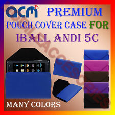 ACM-PREMIUM POUCH LEATHER CARRY CASE for IBALL ANDI 5C MOBILE COVER HOLDER NEW