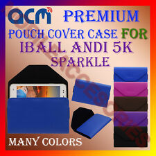 ACM-PREMIUM POUCH LEATHER CARRY CASE for IBALL ANDI 5K SPARKLE MOBILE COVER NEW