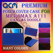 ACM-PREMIUM POUCH LEATHER CARRY CASE for MICROMAX A111 CANVAS DOODLE COVER NEW