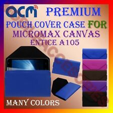 ACM-PREMIUM POUCH LEATHER CARRY CASE for MICROMAX CANVAS ENTICE A105 COVER NEW