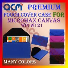 ACM-PREMIUM POUCH LEATHER CARRY CASE for MICROMAX CANVAS WIN W121 MOBILE COVER