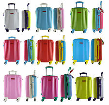 TROLLEY CABINA BAGAGLIO A MANO RYANAIR EASYJET VALIGIA 4 RUOTE LOW COST NEW