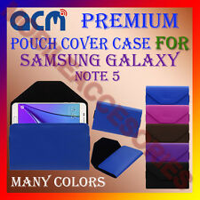 ACM-PREMIUM POUCH LEATHER CARRY CASE for SAMSUNG GALAXY NOTE 5 MOBILE COVER NEW