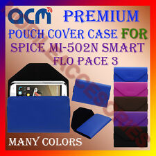 ACM-PREMIUM POUCH LEATHER CARRY CASE for SPICE MI-502N SMART FLO PACE 3 COVER