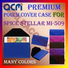 ACM-PREMIUM POUCH LEATHER CARRY CASE for SPICE STELLAR MI-509 MOBILE COVER NEW