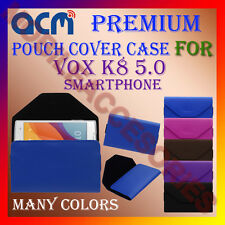 ACM-PREMIUM POUCH LEATHER CARRY CASE for VOX K8 5.0 SMARTPHONE MOBILE COVER NEW