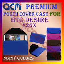 ACM-PREMIUM POUCH LEATHER CARRY CASE for HTC DESIRE 826X MOBILE COVER HOLDER NEW