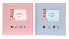 "Gingham Baby Photo Album Baby Boy or Baby Girl 100 4x6"" 10x15cm Photos"