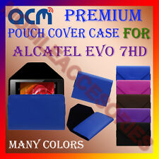 ACM-PREMIUM POUCH LEATHER CARRY CASE for ALCATEL EVO 7HD TABLET COVER HOLDER NEW