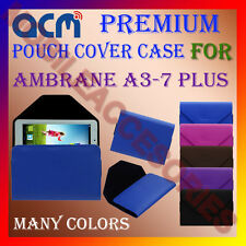 ACM-PREMIUM POUCH LEATHER CARRY CASE for AMBRANE A3-7 PLUS TABLET COVER HOLDER