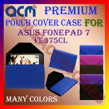 ACM-PREMIUM POUCH LEATHER CARRY CASE for ASUS FONEPAD 7 FE375CL TAB COVER HOLDER