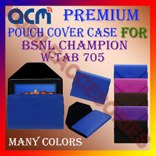 ACM-PREMIUM POUCH LEATHER CARRY CASE for BSNL CHAMPION W-TAB 705 TABLET COVER