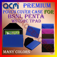 ACM-PREMIUM POUCH LEATHER CARRY CASE for BSNL PENTA WS702C TPAD TABLET TAB COVER