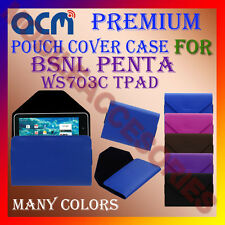 ACM-PREMIUM POUCH LEATHER CARRY CASE for BSNL PENTA WS703C TPAD TABLET TAB COVER
