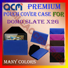 ACM-PREMIUM POUCH LEATHER CARRY CASE for DOMO SLATE X2G TABLET TAB COVER HOLDER