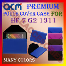 ACM-PREMIUM POUCH LEATHER CARRY CASE for HP 7 G2 1311 TABLET TAB COVER HOLDER