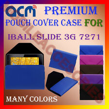 ACM-PREMIUM POUCH LEATHER CARRY CASE for IBALL SLIDE 3G 7271 TABLET COVER HOLDER
