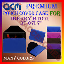 "ACM-PREMIUM POUCH LEATHER CARRY CASE for IBERRY BT07I BT-07I 7"" TABLET COVER NEW"